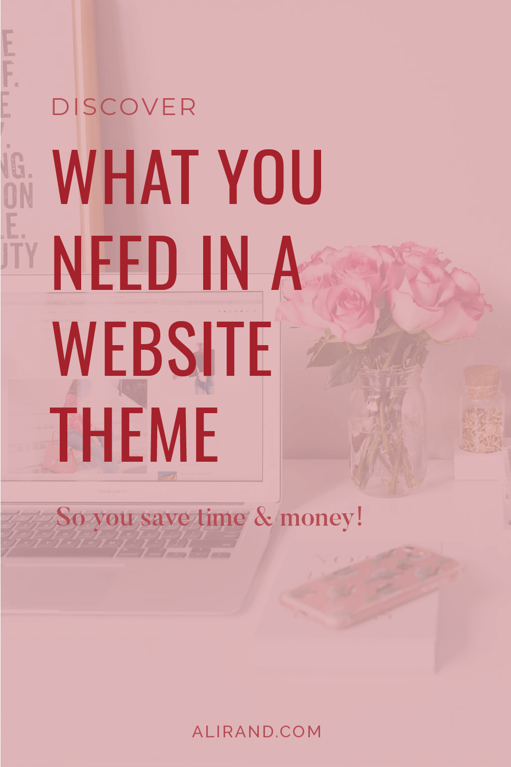 what you need in a website theme by ali rand